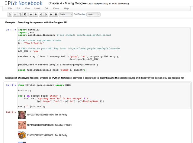IPython Notebook - Google+