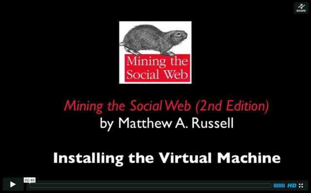A ~3 minute screencast on installing a powerful toolbox for social web mining